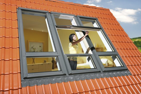 Yüksek Pivot Orta Kayıtlı Fakro Pencereler